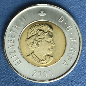Canada 2006 Toonie 2$ from a Mint Roll (Normal Reverse)