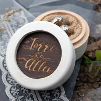 Personalized Wedding Ring Box Rustic Ring Bearer Box Engagement Ring Holder