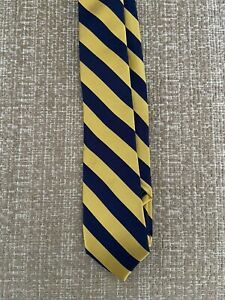 NWT New Ralph Lauren Polo Boys Navy Gold Striped Tie Holiday Family Pictures