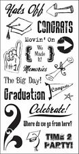 The Paper Company Clear Stamps -Graduation-Hats Off!-The Big Day!- #309