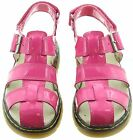 NEW DR MARTENS PINK SAILOR LEATHER SHOES / SANDALS.. UK 2 EU 34 ..MORE LISTED!!