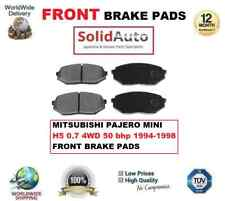 FOR MITSUBISHI PAJERO MINI H5 0.7 4WD 50 bhp 1994-1998 FRONT BRAKE PADS SET