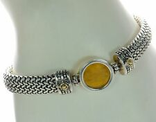 Menegatti 925 Sterling Silver and 18K Gold Bracelet  ...