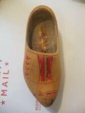 Antique Belgium Hand Carved Wooden Shoe