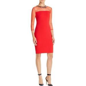Carmen Marc Valvo Necklace Dress MSRP $288 Size 4 # 1B 860 NEW
