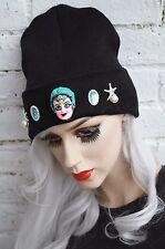 Mermaid noir bonnet street wear pastel goth cyber kawaii indie beanie