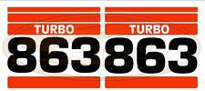 Bobcat 863 Side Decal Sticker Kit Skid Steer Loader Number with Stripes