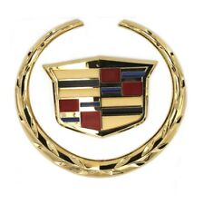 "For Cadillac Front Grille 6"" Emblem Hood Badge Gold Logo Chrome Symbol Ornament"