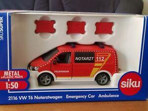 SIKU Neuheit 2021 VW T6 Notarztwagen Art Nr:2116