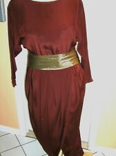 Vintage Brown, Silk, Harem Style Evening Gown - BONAVITACOLA - Lord & Taylor - 8