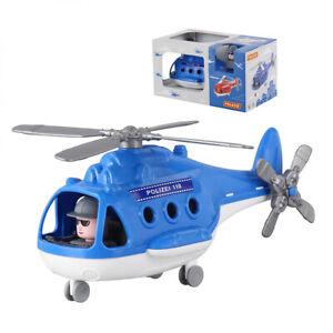 WADER Hubschrauber Polizei Kinder Spielzeug Spielzeughubschrauber Fahrzeug