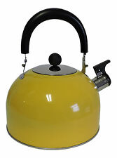 Stainless Steel Whistling Kettle Hot Water Tea Stovetop Yellow (B Stock)