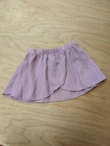 Danskin Dance Ballet Skirt Pull On Elastic Waistband Chiffon toddler Purple