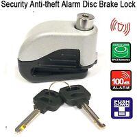 Metal Motorcycle Scooter Anti-theft Brake Disc Lock Wheel Alarm Security Loud