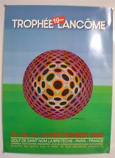 VICTOR VASARELY - 19ème TROPHEE LANCÔME - AFFICHE ORIGINALE - 1988