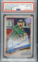 FRANKLIN BARRETO 2018 Topps Gypsy Queen Auto #GQA-FB (Angels) (Athletics) PSA 8