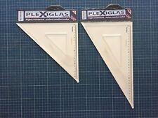 Squadre disegno tecnico FARA Design in PLEXIGLASS coppia da 32cm 45° 60° 90°