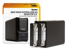 "Box Hard Disk Esterno SATA x 2 HDD da 3,5"" USB 3.0 Hamlet HXDAS35"