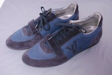 LOUIS VUITTON men's Stardust sneakers navy suede blue mesh sneakers LV 10 US 11