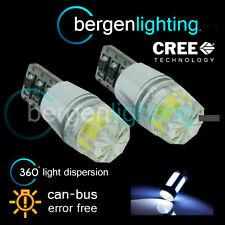 2X W5W T10 501 CANBUS ERROR FREE BIANCO SMD LAMPADINE LUMINOSE A LED PER TARGA