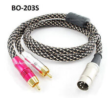 CablesOnline 3ft Bang & Olufsen 5-Pin DIN to 2-RCA Premium Mesh Audio Cable