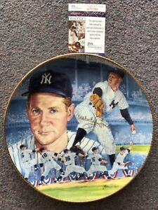 """1990 GARTLAN WHITEY FORD PERSONALLY AUTOGRAPHED 10-1/4"""" PLATE - NEW YORK YANKEES"""