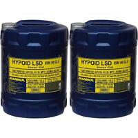 2x 10 Liter MANNOL Schaltgetriebeöl Hypoid LSD 85W-140 API GL-5 LS Getriebeöl