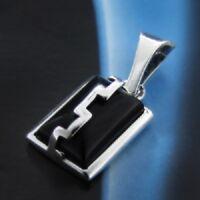 Onyx Silber 925 Anhänger Sterlingsilber Damen Schmuck A0123