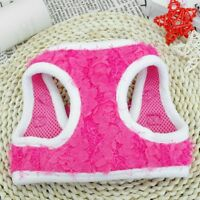Fancy Small Girl Dog Pet Harness Puppy Vest Mesh Adjustable Dog Clothes Pink