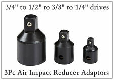 "Air Impact Socket Reducer Set Step Down Adaptors 3/4 to 1/2 to 3/8 to 1/4"" drive"