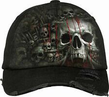Spiral Direct DEATH RIBS Baseball Cap/Hat/Skulls/Tribal/Tattoo/Goth Cap/Dark
