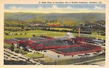 Gadsden Alabama~Dixie Plant~Goodyear Tire & Rubber Factory~1947 Linen Postcard