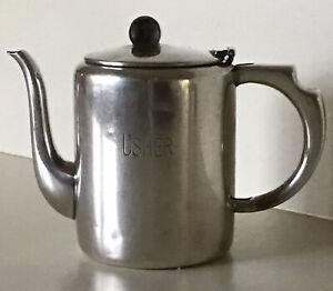 Elkington Silver Plate~Vintage 20 Oz. Coffee Server ~ USHER Monogramed ~ England