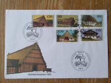 W110-SOBRE 1º DIA ALEMANIA 1995 Nº1651/5 CASAS TIPICAS ALEMANIA BONITOS 15,00€