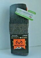 Men's Wool Blend Socks Large 9-12 Shoe Realtree® Odor Protection Various Colors