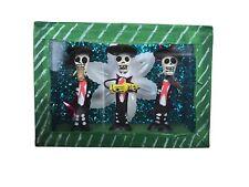 Day of the Dead Sugar Skulls Mariachi in a Glass Box - Mexican Decor
