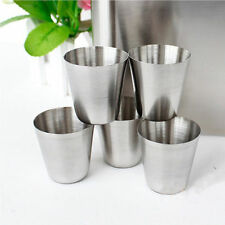 35ml Portable Stainless Steel Wine Drinking Shot Glasses Travel Barware Cup SM