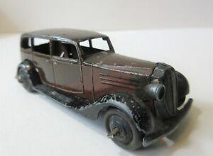 Dinky Toys Early Version Vauxhall Four Door Saloon Car - 1930's Dinky Toy Car