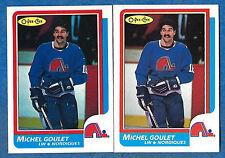 1986-87 O-Pee-Chee Regular & Blank Back MICHEL GOULET (ex-mt) Quebec Nordiques