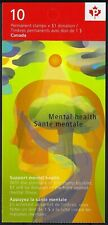 "Canada BK410: pane of 10 x ""P""+10c, 2009 Mental Health, Scott B15a"