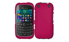 For BlackBerry Curve 9310 9320 Rubberized HARD Case Phone Cover Rubber Rose Pink