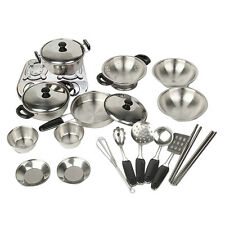 20pcs/Lot Kids Play House Toy Cooking Kitchen Utensils Pans Pots Dishes Cookware