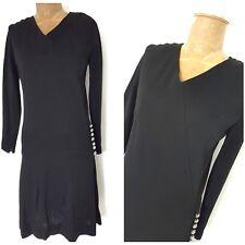 Vintage 60s Cocktail Party Dress Size Medium Mini Gatsby Costume Formal Black