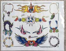 "Tattoo Studio Shop Flash Single By Eric Iovino Traditional Designs 11""X14"" Print"