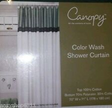 """FABRIC SHOWER CURTAIN COTTON/POLY 70""""X 71""""BY CANOPY SEA GLASS GREEN NEW IN BAG"""