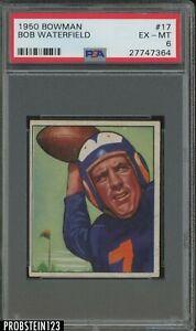 1950 Bowman Football #17 Bob Waterfield Los Angeles Rams PSA 6 EX-MT