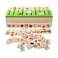Toddler Kids Montessori Sorting Toys Early Education 8 Sorting Categories