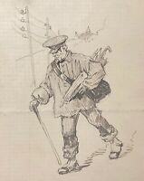 Holder of Umbrella Drawing Anonymous to 'Ink towards 1870