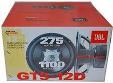 "JBL GT5-12D 1100 Watt Max 12"" GT Series Dual Voice Coil 4 ohm Subwoofer New"