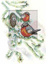 Orchidea Cross Stitch Card Kit - Birds in a Fir Tree